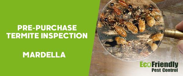 Pre-purchase Termite Inspection Mardella