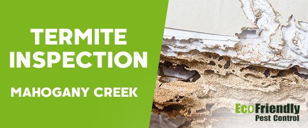 Termite Inspection MAHOGANY CREEK
