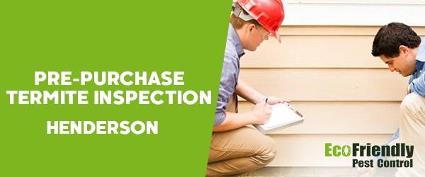 Pre-purchase Termite Inspection  Henderson