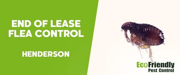 End of Lease Flea Control  Henderson