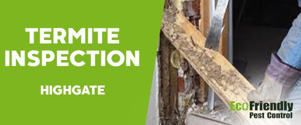 Termite Inspection  Highgate