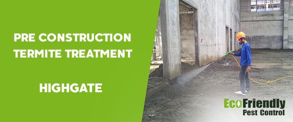 Pre Construction Termite Treatment  Highgate