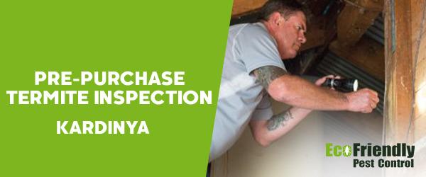 Pre-purchase Termite Inspection Kardinya