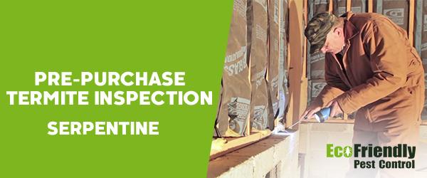 Pre-purchase Termite Inspection Serpentine