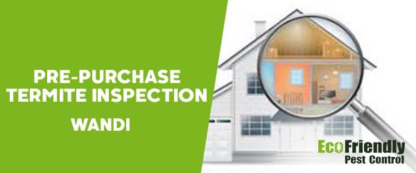 Pre-purchase Termite Inspection Wandi